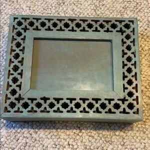 Other - Handmade My Mela Turquoise wooden frame box
